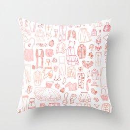 Fashion clothes pattern Throw Pillow