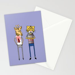 Giraffe and Tiger Stationery Cards