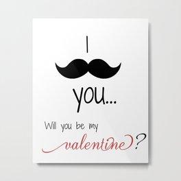 Valentine, Love Print  Metal Print