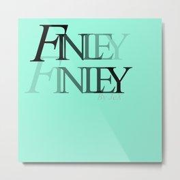 Finley Finley Logo By JeX Metal Print