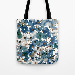 Georgia Floral Blue Tote Bag