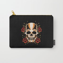 Skull Old School Tattoo Style Illustration Carry-All Pouch