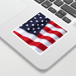 Fancy Flag:  USA 2 Sticker