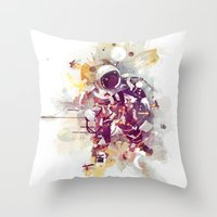 earthbound Throw Pillows featuring Summer Nights by Travis Clarke