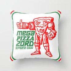 MEGA PIZZA ZORD SUPREME 2000 Throw Pillow