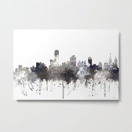 Adelaide, South Australia Skyline - CRISP Metal Print