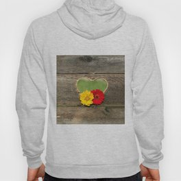 Wooden Heart with Flowers Hoody