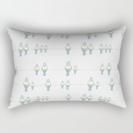 Birds on the line Rectangular Pillow