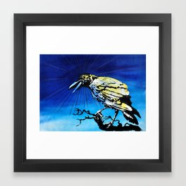 Radiation Crow study Framed Art Print