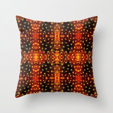 Red Yellow Sparkling Pattern Throw Pillow