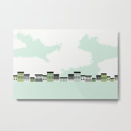 Barns & Clouds Metal Print