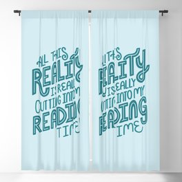 Reality Vs. Reading Blue Blackout Curtain
