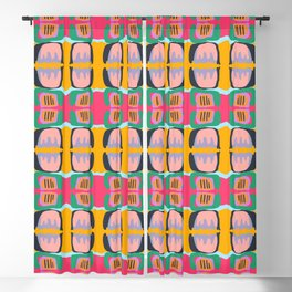 Shapes and Layers no.26 - Modern Abstract Flowers Blackout Curtain