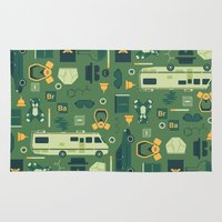 breaking bad Area & Throw Rugs featuring Breaking Bad by Tracie Andrews