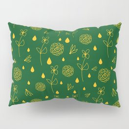 Flowers and Raindrops Pillow Sham