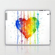 Heart Rainbow Watercolor Love Wins Colorful Splatters Laptop & iPad Skin