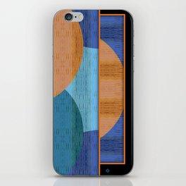 Orange Blues Geometric Shapes iPhone Skin