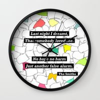 smiths Wall Clocks featuring The Smiths by Adrian Roman