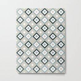 Bohemian Holiday Geometric 01C Metal Print
