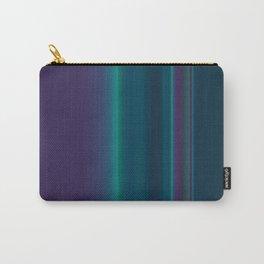 Royal Purple Aqua Stripes Carry-All Pouch