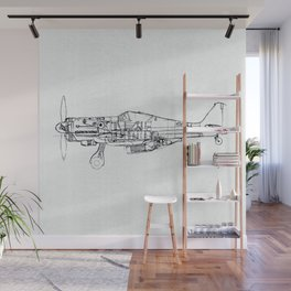 FW - 190 ( B & W) Wall Mural