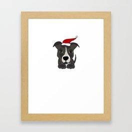 Pit Bull Christmas Shirt Framed Art Print