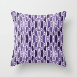Fragmented Diamond Pattern in Violet Throw Pillow