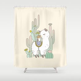 Alpaca Kiss Shower Curtain