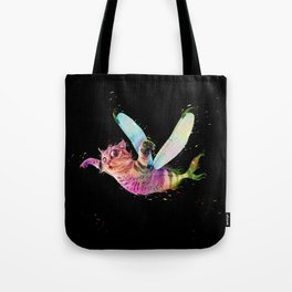 Psychedelic flying cat-fish - colorful - animal-lovers Tote Bag
