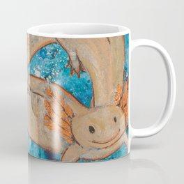 Axolotls  Mexican Salamander Walking Fish Coffee Mug