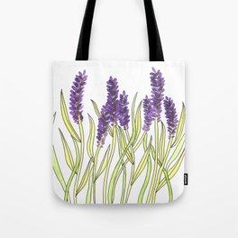 Lavender Illustration Tote Bag