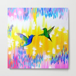 Hummingbird Sunrise Metal Print