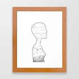 Silhouette Sketch Framed Art Print