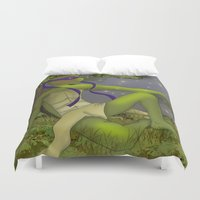 tmnt Duvet Covers featuring TMNT Donnie by Sampsonknight