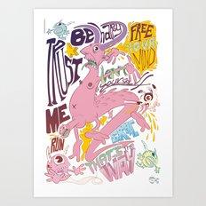 Devil's Tips Art Print