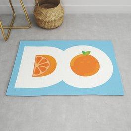 D.O. Orange Logo Rug