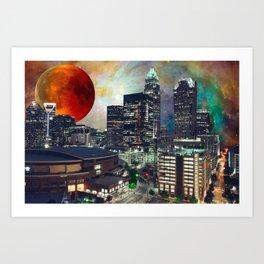 Charlotte Space Skyline Art Print
