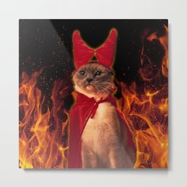 Cat From Hell  Metal Print