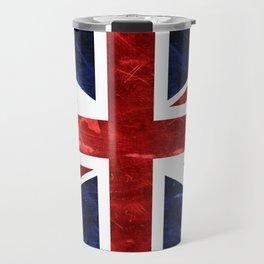 Grunge Union Jack Flag Travel Mug