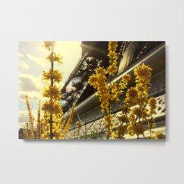 Flowers of the Eiffel Tower Metal Print
