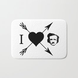 I Love (Heart) Edgar Allan Poe Bath Mat
