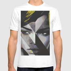 Rihanna White LARGE Mens Fitted Tee