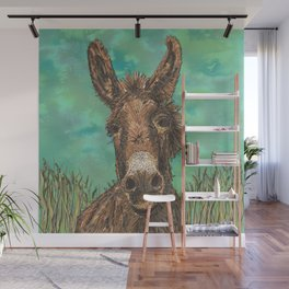 Little Brown Donkey Wall Mural
