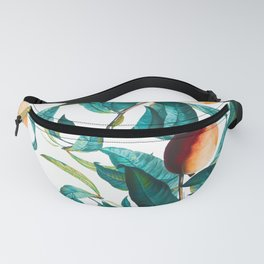 Fruit and Leaf Pattern Fanny Pack