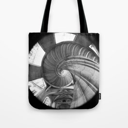 The spiral staircase in the Renaissance castle Hartenfels in Torgau / Saxony Tote Bag