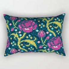Pixel Flora Rectangular Pillow