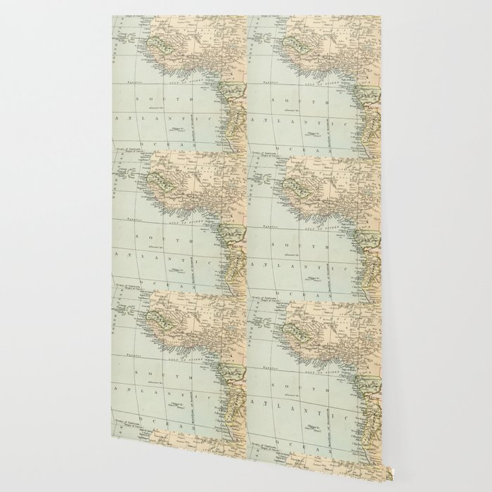 West & North Africa Vintage Map Wallpaper by graphikz   Society6