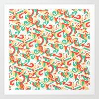 Fraktur Art Print