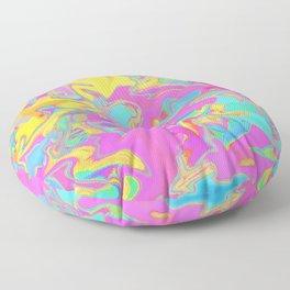 pink oil slick Floor Pillow