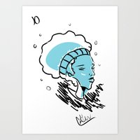 Blue Spirit Art Print